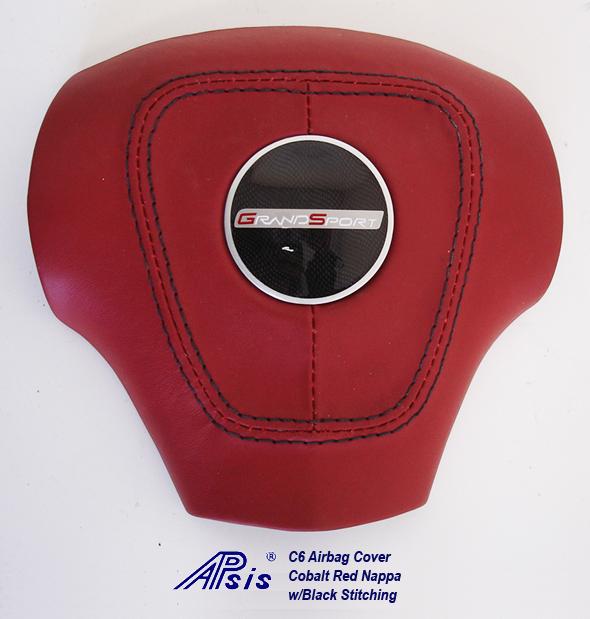 C6 Aribag Cover-new cobalt red w-c4 center cap + gs logo-1
