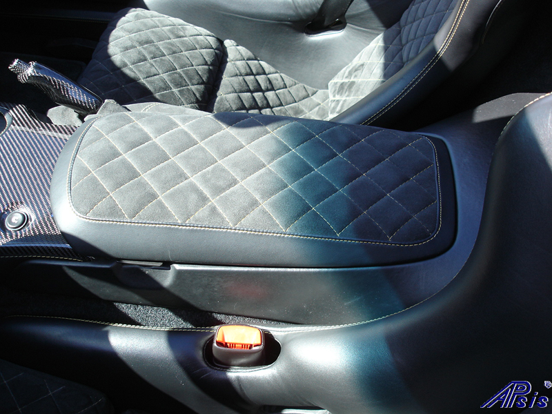 C6 Armrest-callaway style-eb+charcoal alcantara w-vy stitching-installed-1