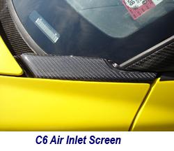 C6 Black CF-Air Intake Screen-installed-1