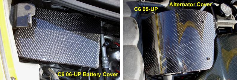C6 Black CF-Battery Cover & Alternator Cover - installed  800