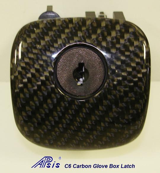 C6 Black CF-Glove Box Latch-individual-1