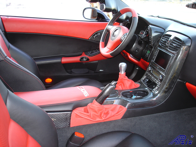 C6 Black CF whole interior-installed-right view-2