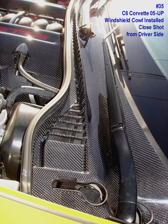 C6 Black Carbon-Windshield Cowl-installed-close shot from driver side-1