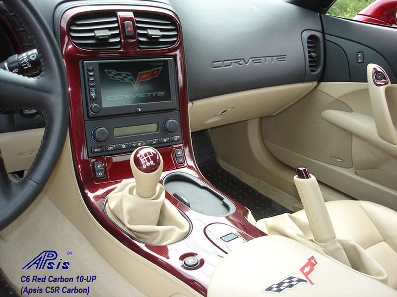 C6 C5R CF whole interior-installed-show center console-2