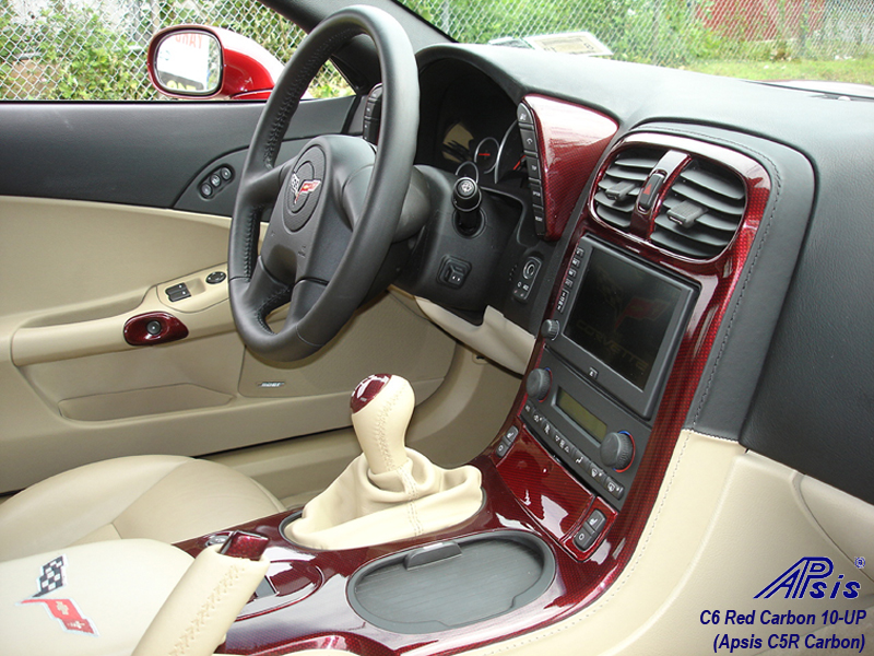 C6 C5R CF whole interior-installed-show center console-4-pass view