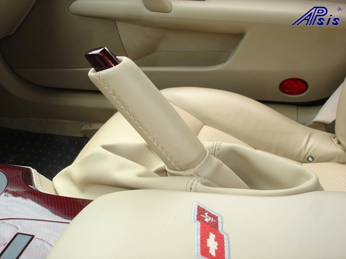 C6 C5R CF whole interior-installed-show ebrake cap-handle-1