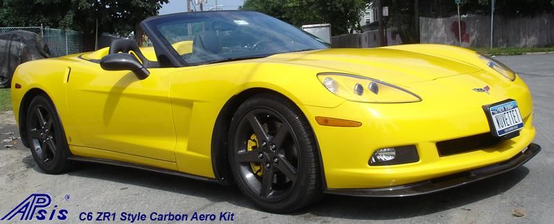 C6 CF Aero Kit-installed-front right view-1