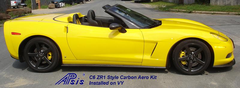 C6 CF Aero Kit-installed-side view-1