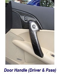 C6 CF Door Handle-carbon 220