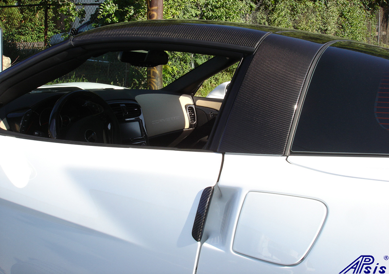 C6 CF Ext Door Handle+Halo+Roof on white car-3