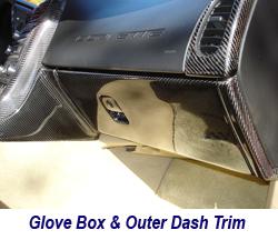 C6 CF Glove Box 250
