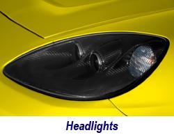 C6 CF Headlight-yellow 250