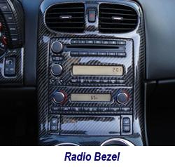 C6 CF Radio Bezel 250