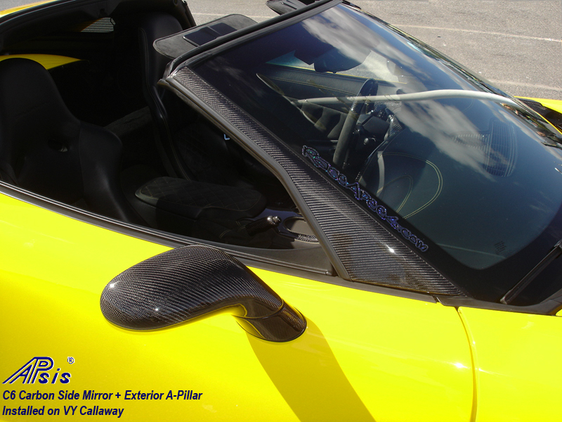 C6 CF Side Mirror + A-Pillar-installed on Callaway-harolds car-1