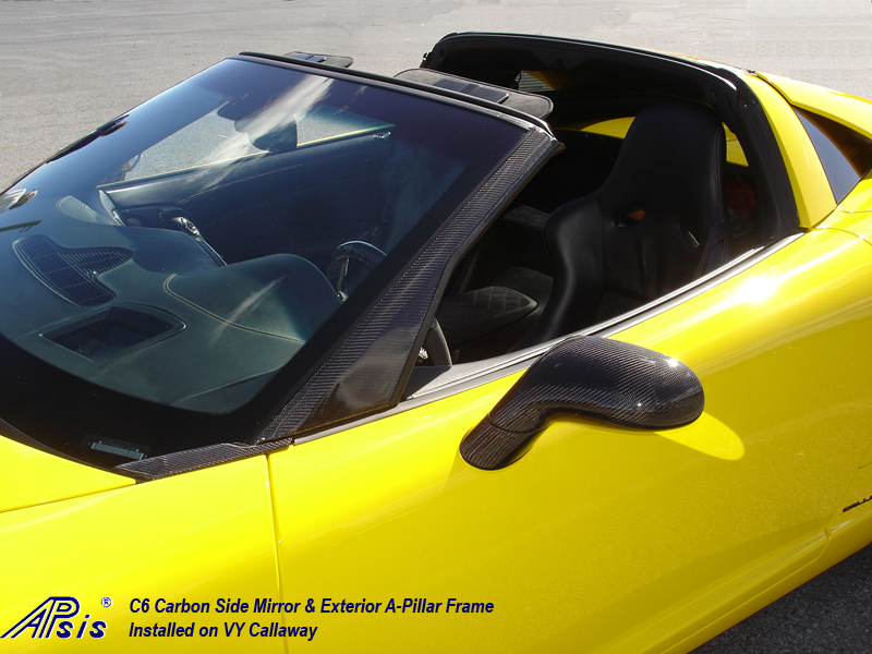 C6 CF Side Mirror + A-Pillar-installed on Callaway-harolds car-2