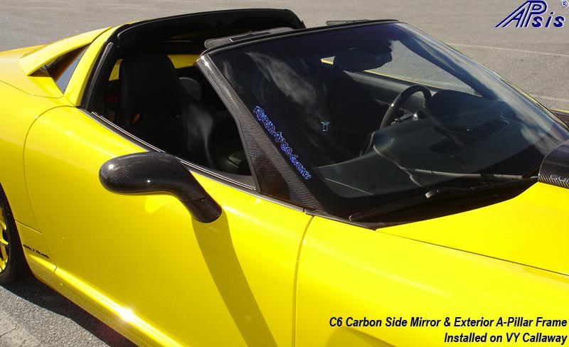 C6 CF Side Mirror + A-Pillar-installed on Callaway-harolds car-3