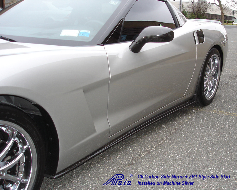 C6 CF Side Skirt+Side Mirror-installed on ms-2