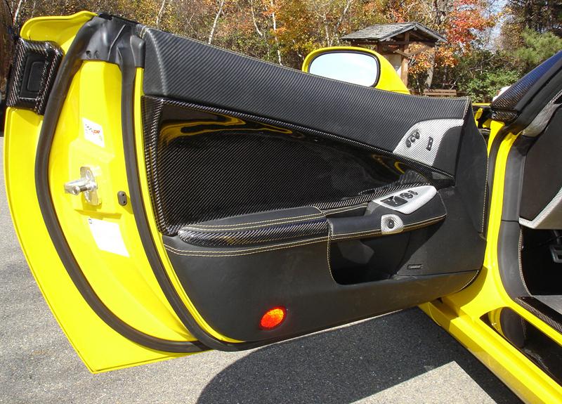 C6 Carbon Door Panel-installed-driver-7