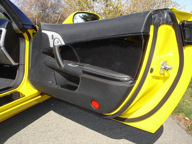 C6 Carbon Door Panel-installed-pass-3