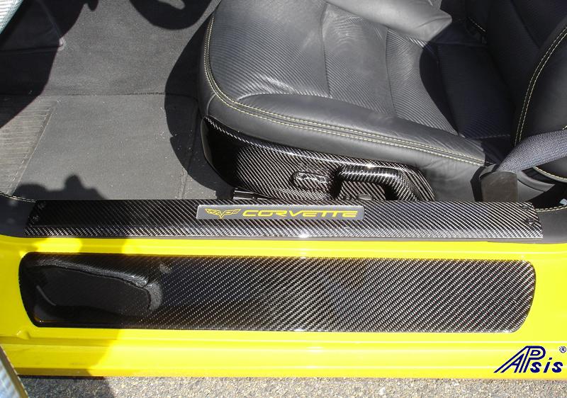 C6 Carbon Door Sill & Power Seat Bezel-1
