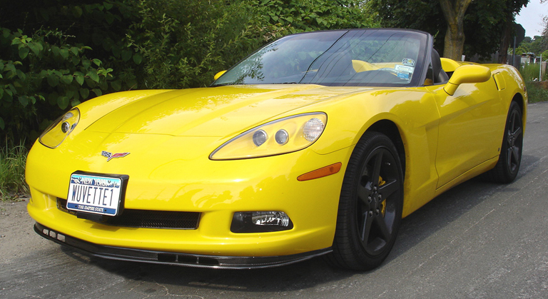 C6 Carbon Front Splitter-installed-front side view-3-crop-done