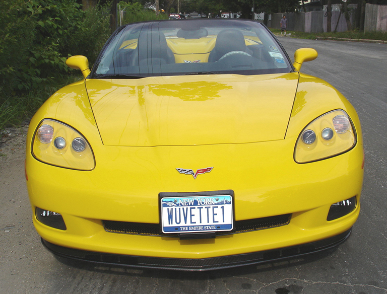 C6 Carbon Front Splitter-installed-front view-2-crop-done