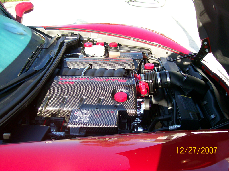 C6 Carbon Fuel Rail Cover-installed-right side view-2