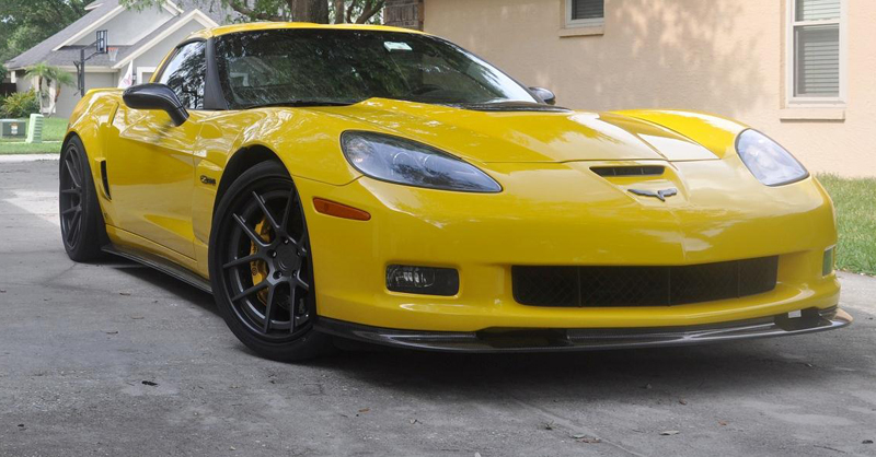 C6 Carbon Headlight-installed on vy-2