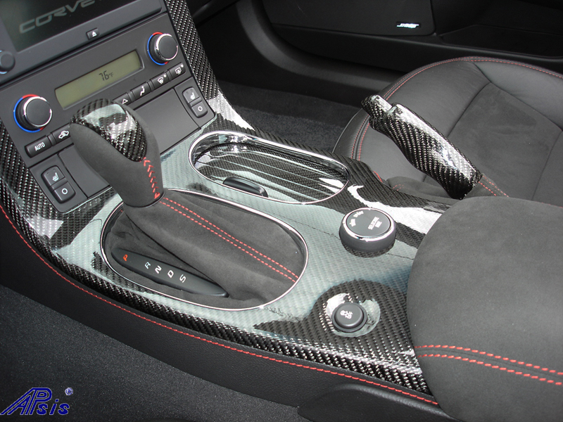 C6 Carbon Interior Pkg installed on centennial c6-7-close shot