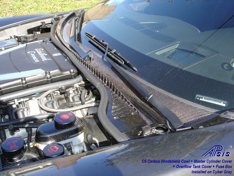 C6 Carbon Windshield Cowl installed on CG-1