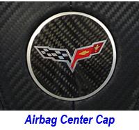C6 Center Cap-carbon w-flag logo 200