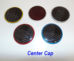 C6 Center Cap-plain w-assorted color ring 250