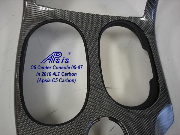 C6 Center Console-C5 carbon-close shot-4-cup holder