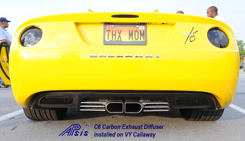 C6 Corvette Black CF-Exhaust Diffuser-installed on vy callaway-1