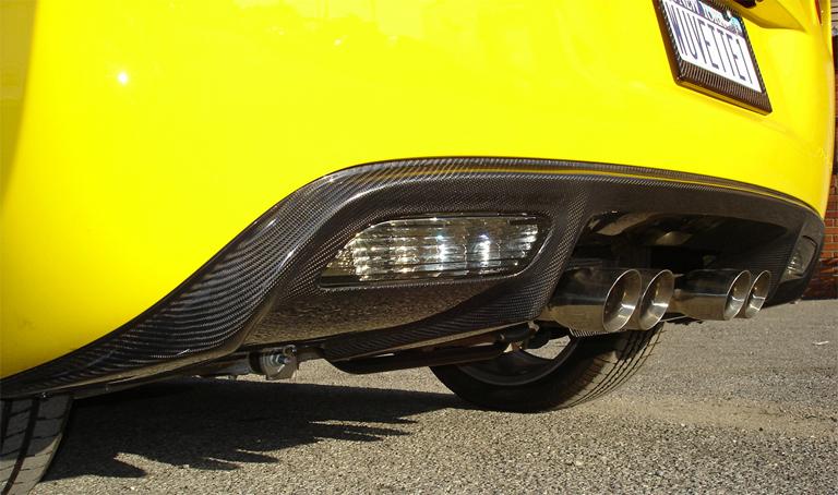 C6 Corvette Black CF-Exhaust Diffuser-side view-768