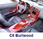 C6 Corvette Burlwood -installed right view - 180