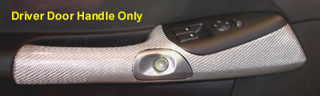 C6 Corvette Silver CF Driver Door Handle installed  - 450
