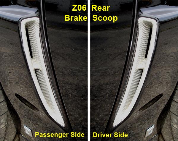 C6 Corvette Silver CF-Z06 Rear Brake Scoop