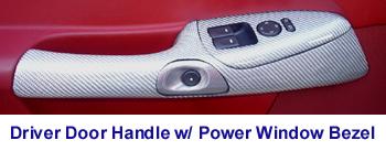 C6 Corvette-SilverCF-Driver Door Handle - 350p 72P Red