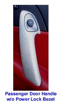 C6 Corvette-SilverCF-Pass Door Handle-install 123p 72P Red