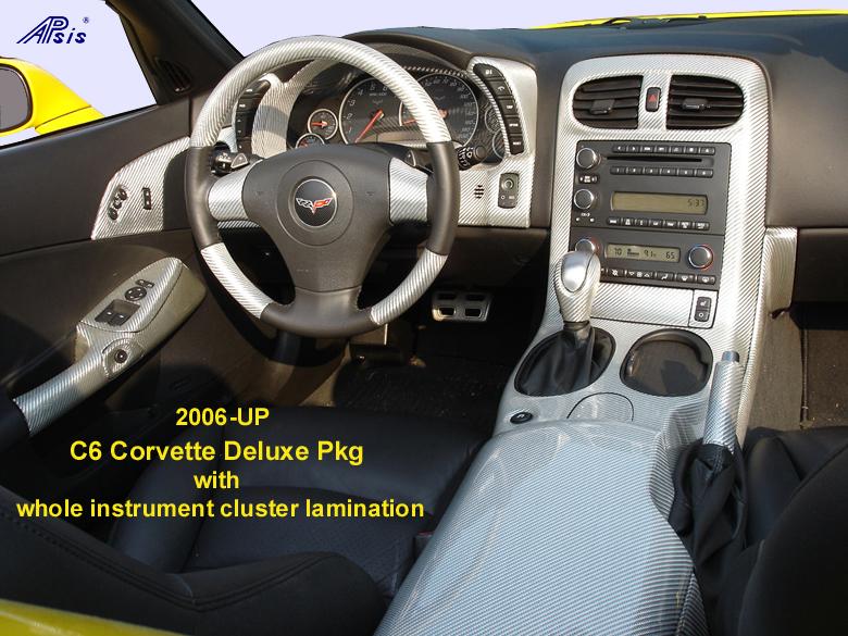 C6 Corvette SilverCF-whole view-w-Speedo Lamination-center view-780