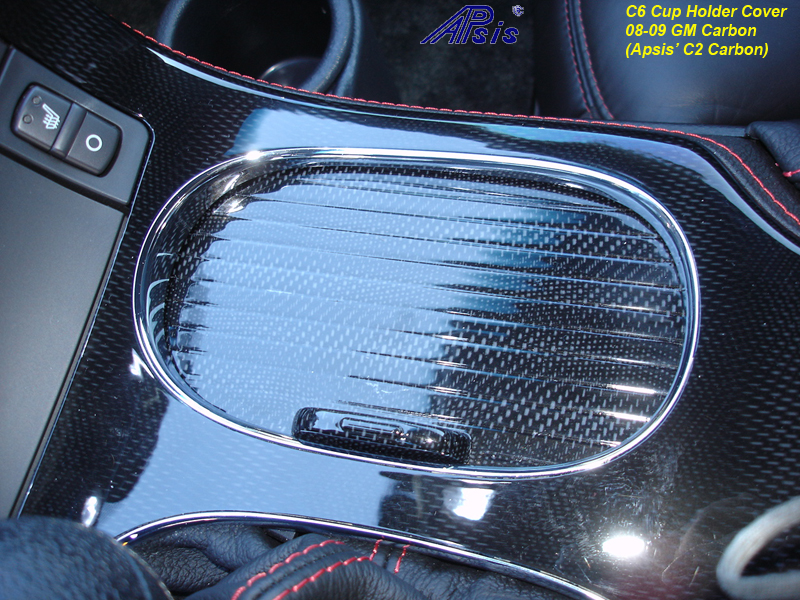 C6 Cup Holder Cover-C2CF-installed-1