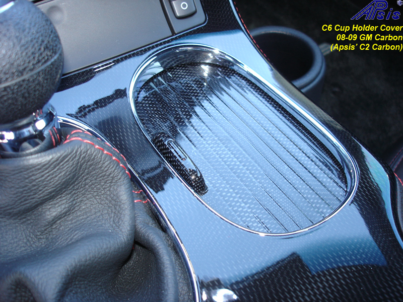 C6 Cup Holder Cover-C2CF-installed-2