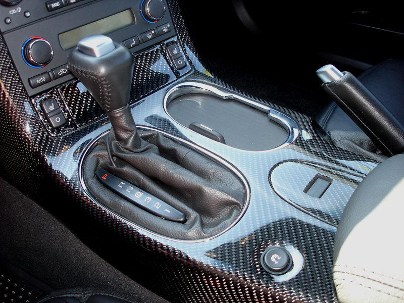 C6 Cup Holder-Shifter Ring-installed-close shot-outdoor-2
