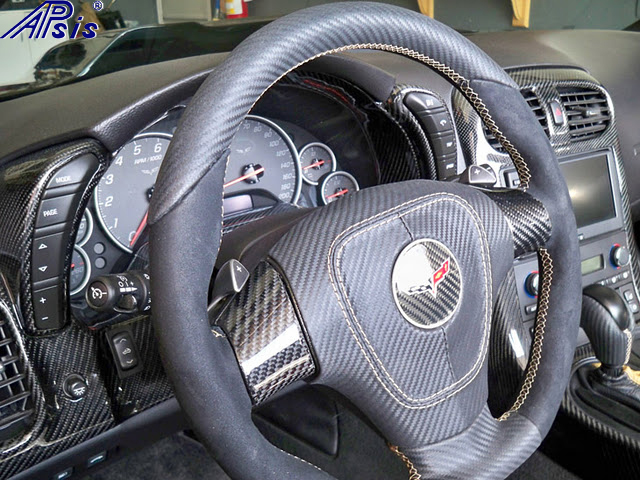 C6 D-Sport carbon leather + alcantara w-ferrari tan stitching-3-installed