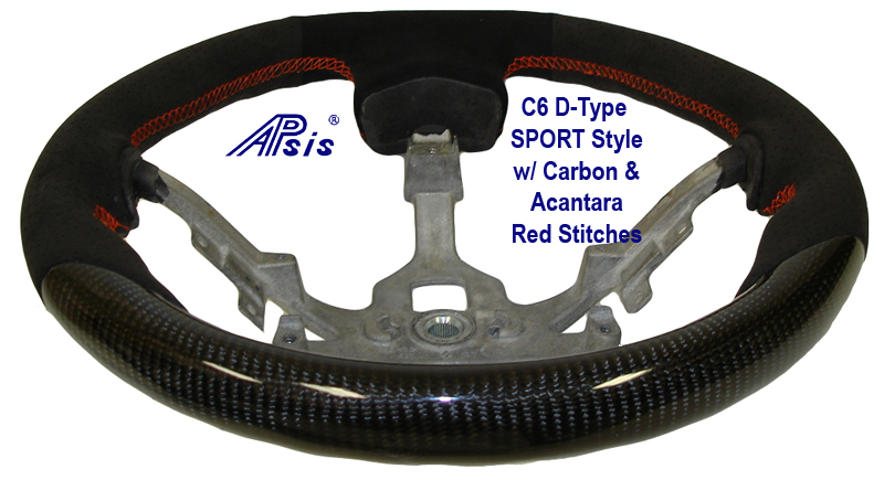 C6 D-Type SW Carbon w- Acantara & Red Stitches 800