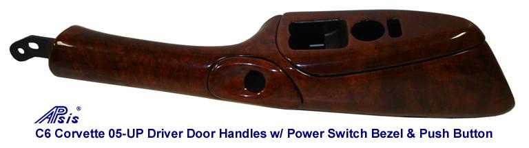 C6 DF Door Handle w-Push Button Bezel-burlwood-768