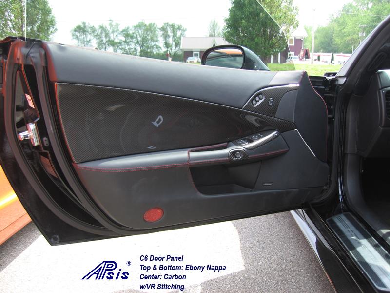 C6 Door Panel-CF+EB w-vr stitching-installed-from jerry gaddis-1