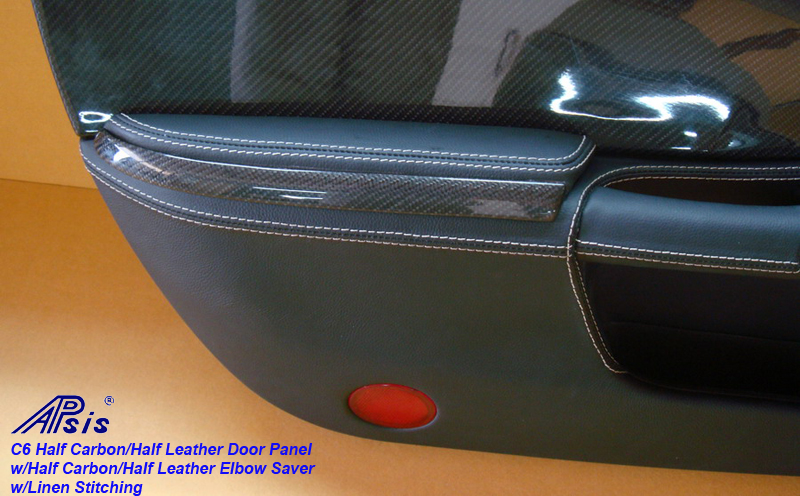 C6 Door Panel-carbon+leather w-linen+ carbon leather on top-elbow saver-1