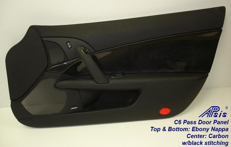 C6 Door Panel-carbon+nappa-PF w-handle-full-1
